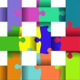 Abstrakte Puzzlespiel-Auslegung Stockbild