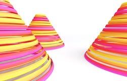 Abstrakte Pyramide Lizenzfreie Stockfotos