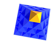 Abstrakte Pyramide mit Gelb Lizenzfreie Stockfotos