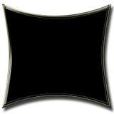 Abstrakte quadratische schwarze Fahne Stockbilder