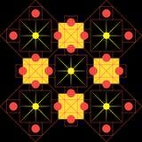 Abstrakte Raummusterverzierung auf einem schwarzen Hintergrund Lizenzfreies Stockfoto