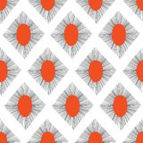 Abstrakte Raute formt rotes Schwarzes des nahtlosen Vektormusters Wiederholen des Hintergrundes vektor abbildung