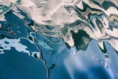 Abstrakte Reflexionen des Wassers Stockfotos