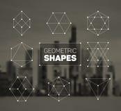 Abstrakte regelmäßige geometrische Formen des Vektors eingestellt Stockfoto