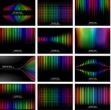 Abstrakte Regenbogenbarkefarben-Hintergrundansammlung Stockfotografie