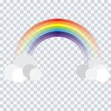 Abstrakte Regenbogenkarikatur auf Hintergrundvektor stock abbildung