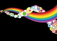 Abstrakte Regenbogenkurven Lizenzfreies Stockbild