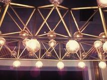 Abstrakte Reihe Lampen Lizenzfreies Stockbild