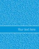 Abstrakte Retro- blaue Abdeckung Schablone stock abbildung