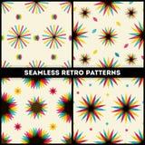 Abstrakte Retro- geometrische nahtlose Mustersammlung Lizenzfreies Stockfoto
