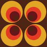 Abstrakte Retro- nahtlose braune orange runde Weinlese-nahtloses Muster Backround, das Muster wiederholt lizenzfreie abbildung