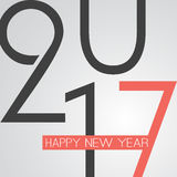 Abstrakte Retrostil-guten Rutsch ins Neue Jahr-Gruß-Karte oder Hintergrund, kreative Design-Schablone - 2017 Lizenzfreies Stockfoto