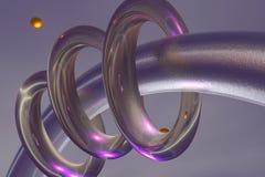 Abstrakte Ringe Stockbild