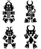 Abstrakte Roboter und Teufel Stockfotos