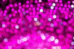 Abstrakte Rosa unscharfe Lichter Bokeh Hintergrund Lizenzfreies Stockbild