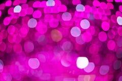 Abstrakte Rosa unscharfe Lichter Bokeh Hintergrund Lizenzfreie Stockfotos