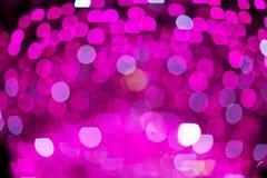 Abstrakte Rosa unscharfe Lichter Bokeh Hintergrund Lizenzfreie Stockfotografie