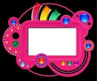 Abstrakte rosa Website Stockfoto