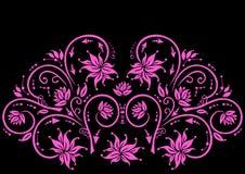 Abstrakte rosafarbene Blumenverzierung Stockfotografie