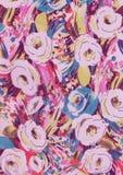 Abstrakte Rosarose blüht Beschaffenheit Lizenzfreies Stockfoto