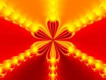 Abstrakte rote Blume stockbild