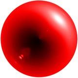 Abstrakte rote Kugel mit Schatten und grellem Glanz Stockfotos