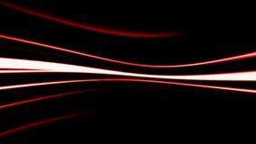 Abstrakte rote Linie auf schwarzem Hintergrund stock video footage