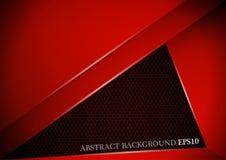 Abstrakte rote Linie moderne Deckungsschicht des Winkels auf Nettohintergrund Stockbild