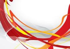 Abstrakte rote Schablone Lizenzfreies Stockbild