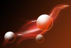 Abstrakte rote Strahlen und Kreise Lizenzfreies Stockfoto