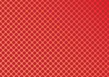 Abstrakte rote und orange Farbe des Kreises formt Halbtonmuster vektor abbildung