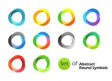 Abstrakte runde Symbole Stockbilder