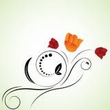 Abstrakte schöne Blumen kreativ vektor abbildung