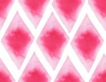 Abstrakte schöne künstlerische zarte wunderbare transparente helle rote rosa verschiedene Formen kopieren Aquarellhandillustratio lizenzfreie abbildung