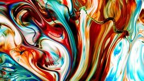 Abstrakte Schönheit der Kunsttintenfarbe explodieren bunte Fantasieverbreitung Stockbilder