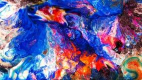 Abstrakte Schönheit der Kunsttintenfarbe explodieren bunte Fantasieverbreitung Lizenzfreie Stockbilder