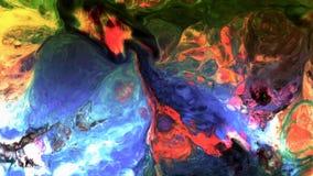 Abstrakte Schönheit der Kunsttintenfarbe explodieren bunte Fantasieverbreitung Lizenzfreies Stockbild