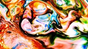 Abstrakte Schönheit der Kunsttintenfarbe explodieren bunte Fantasieverbreitung Lizenzfreies Stockfoto