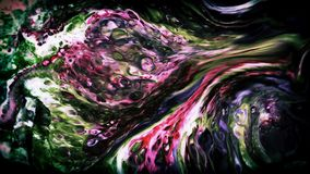 Abstrakte Schönheit der Kunsttintenfarbe explodieren bunte Fantasieverbreitung Lizenzfreie Stockfotos