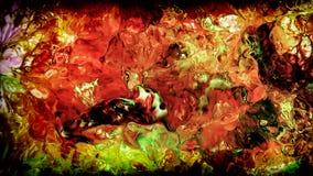 Abstrakte Schönheit der Kunsttintenfarbe explodieren bunte Fantasieverbreitung Stockfotos