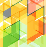 Abstrakte Schablone des geometrischen Entwurfs Lizenzfreie Stockfotografie
