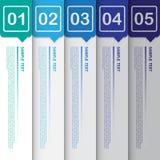 Abstrakte Schablone für Design und kreative Arbeit, Vektor Illustrat Lizenzfreie Stockfotos