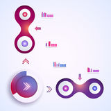 Abstrakte Schablone infographic Stockfotografie