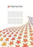 Abstrakte Schablone mit Platz für Ihren Text Stockbilder
