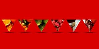 Abstrakte Schale formt voll von den Früchten Lizenzfreies Stockbild