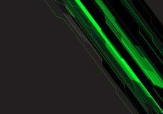 Abstrakte Schaltkreistechnik der Grünen Grenze auf modernem futuristischem Hintergrundvektor des grauen Leerstelledesigns vektor abbildung