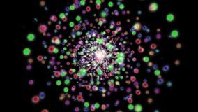 Abstrakte Schleife bokeh Bewegung lokalisiert vektor abbildung