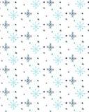 ABSTRAKTE SCHNEE-FLOCKE DES HANDabgehobenen betrages Weihnachtsnahtloses vektormuster vektor abbildung