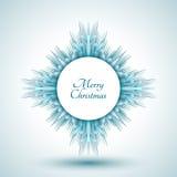 Abstrakte Schneeflocke mit Zeichen der frohen Weihnachten Lizenzfreies Stockbild