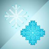 Abstrakte Schneeflocken Stockfoto